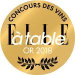 ELLE - Concours des vins à table - Médaille d'or 2018