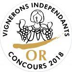 Vigerons indépendants - Concours 2018 - Médaille d'or